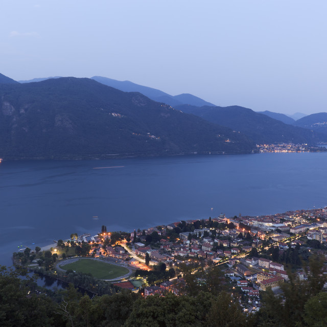 """""""Views of the town of Cannobio, Italy"""" stock image"""