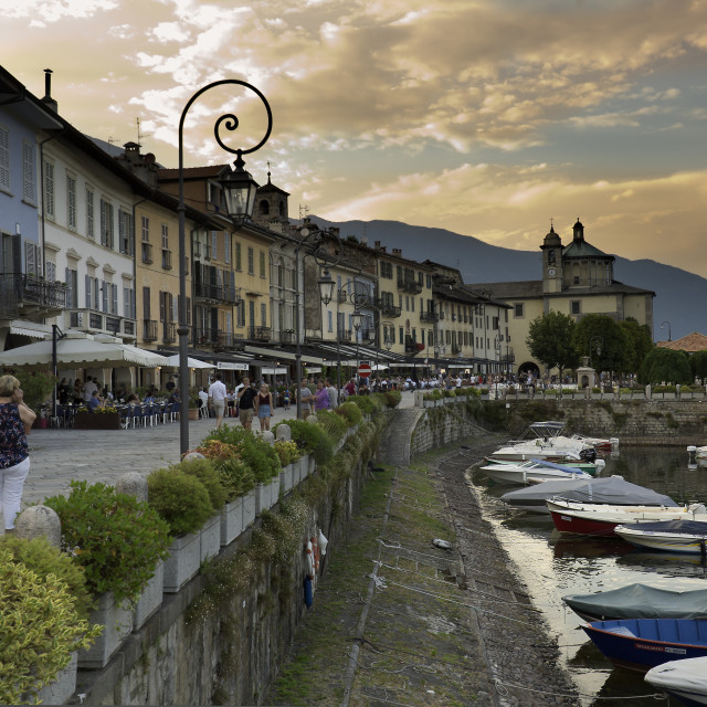 """""""Views of the town of Cannobio. Italy."""" stock image"""