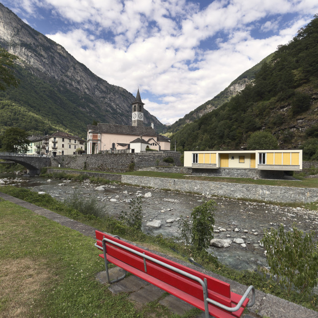 """Bignasco is a beautiful village in Switzerland"" stock image"