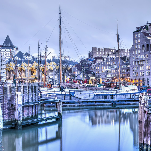 """Old Harbour early morning"" stock image"
