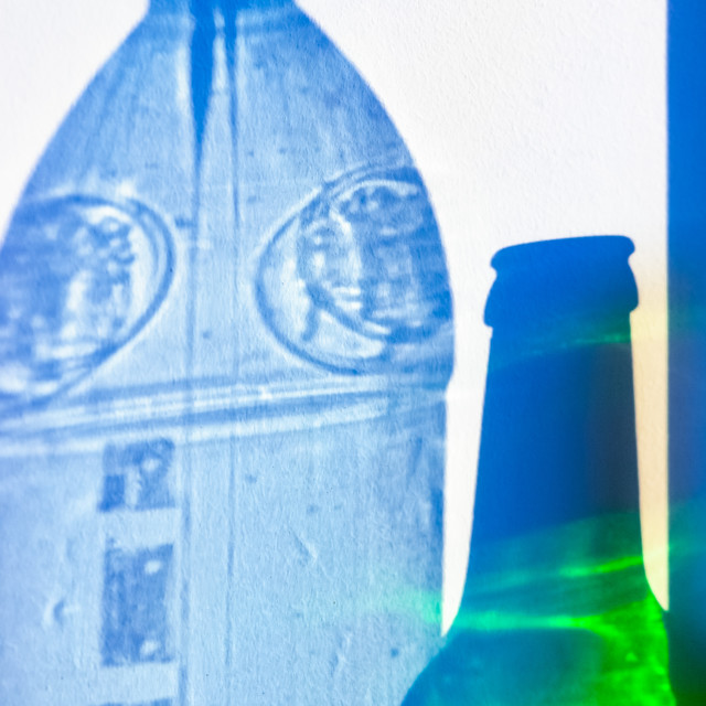 """Bottle Shadow Projection"" stock image"