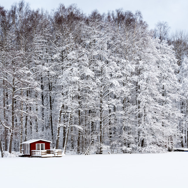 """Red hut"" stock image"