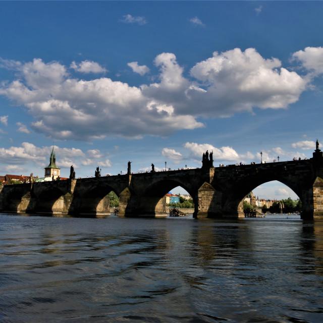 """Prague's bridge of Charles IV"" stock image"