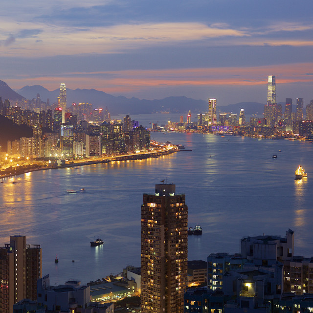 """Hong Kong Panorama"" stock image"