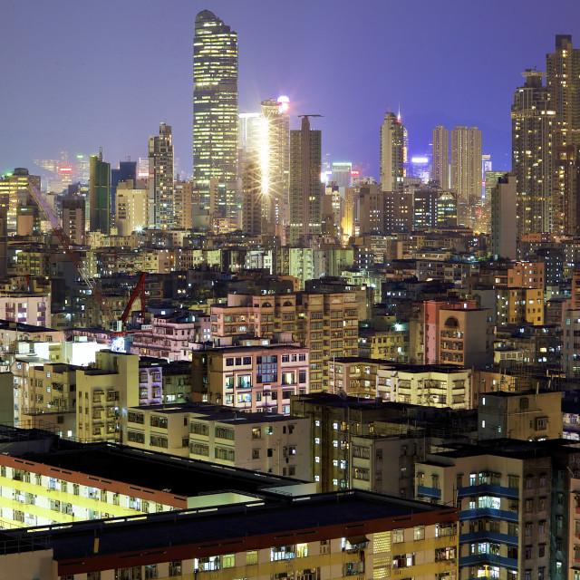 """Sham Shui Po Skyline"" stock image"