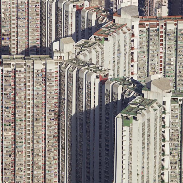 """Residential tower blocks in Hong Kong"" stock image"