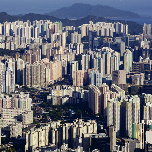 """Residential tower blocks in Hong Kong"" stock image"