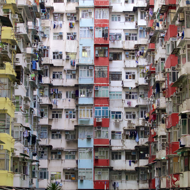 """Yick Fat Building, Hong Kong"" stock image"
