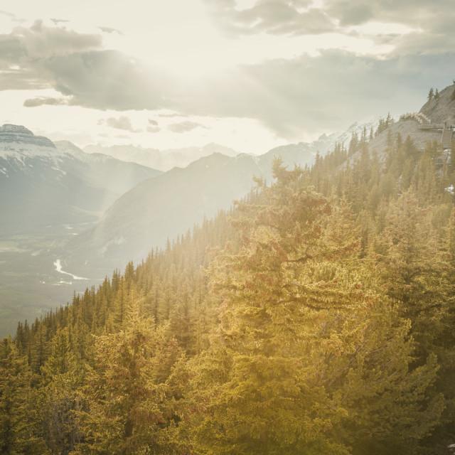 """Sulphur Mountain in Banff National Park"" stock image"