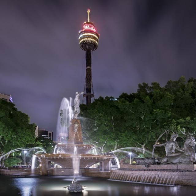 """""""Archibald Fountain, Hyde Park, Sydney"""" stock image"""