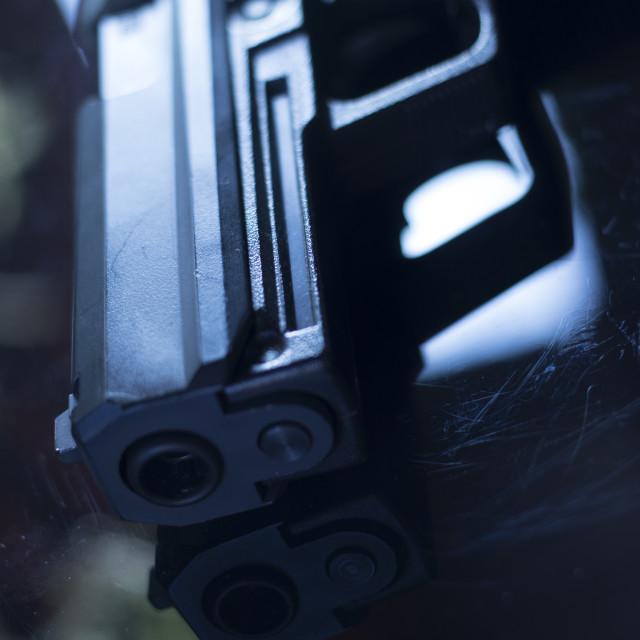 """Automatic pistol handgun"" stock image"