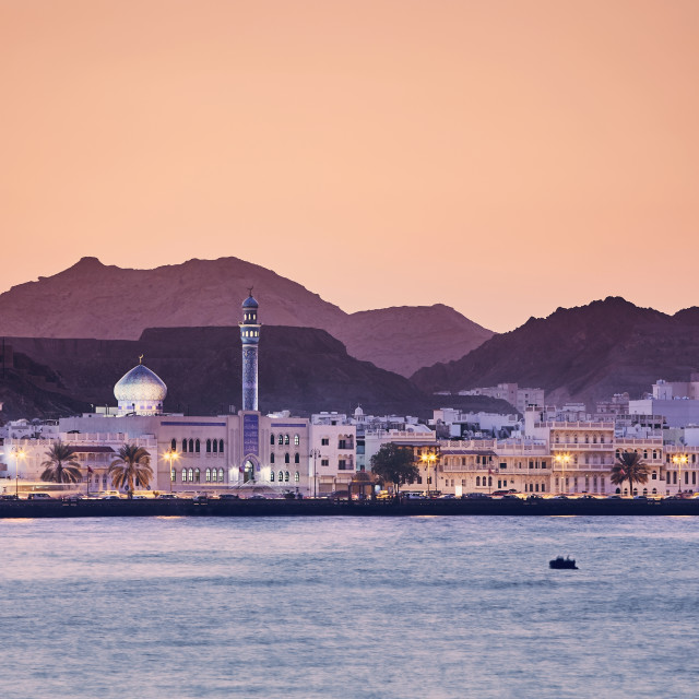 """Muscat at golden sunset"" stock image"