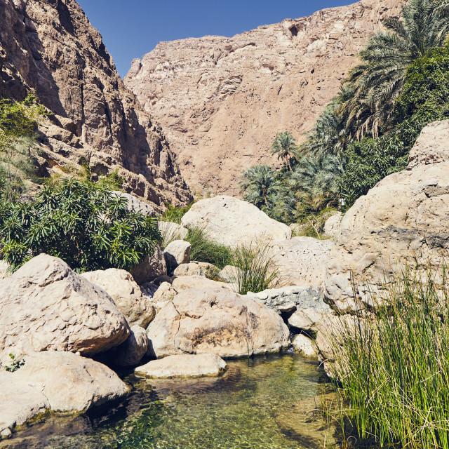 """Landscape of Oman"" stock image"