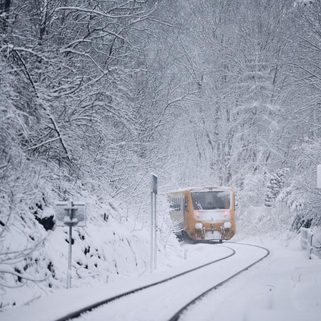 """Railway in winter"" stock image"