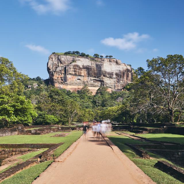 """Sigiriya rock in Sri Lanka"" stock image"