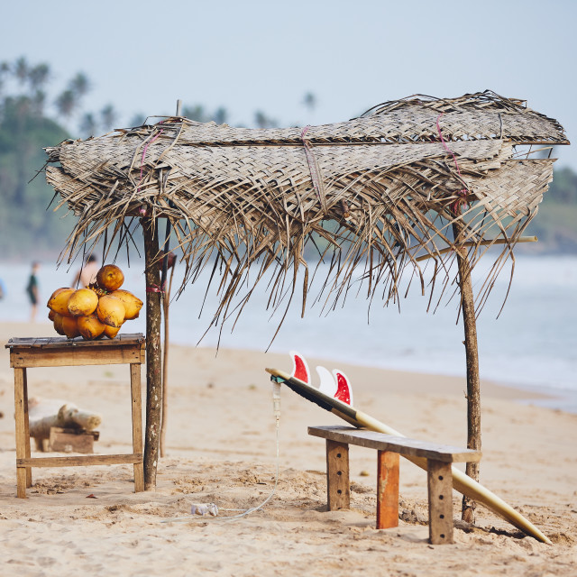 """Idyllic day on the beach"" stock image"