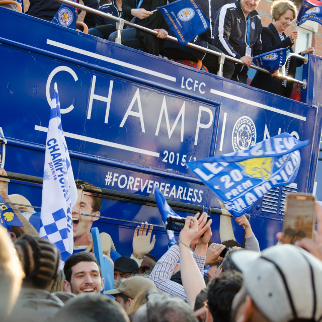 """""""Leicester City LCFC Victory Parade"""" stock image"""