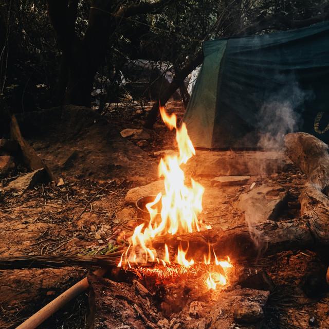 """Winter Camp"" stock image"