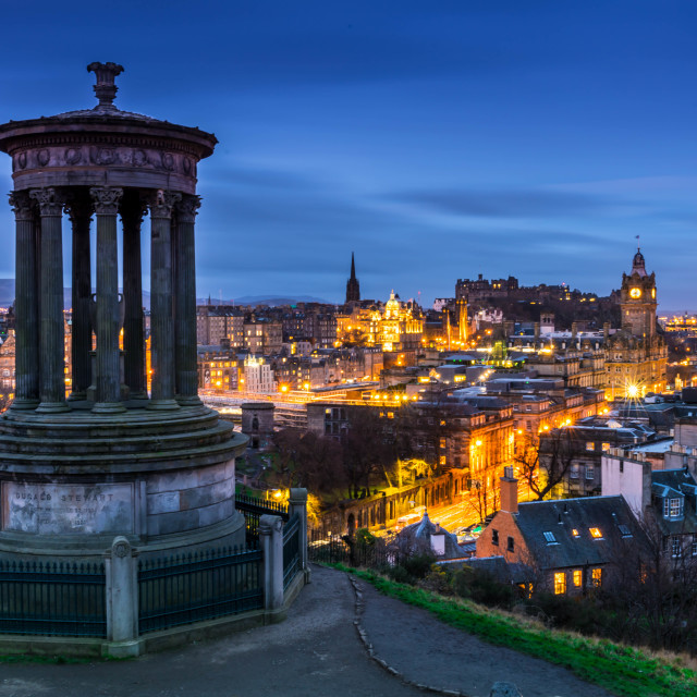 """Edinburgh Skyline"" stock image"