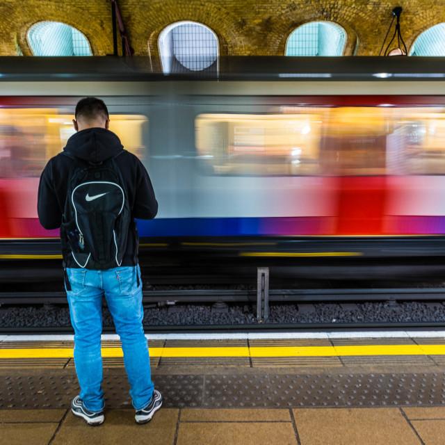 """""""Tube Passenger"""" stock image"""