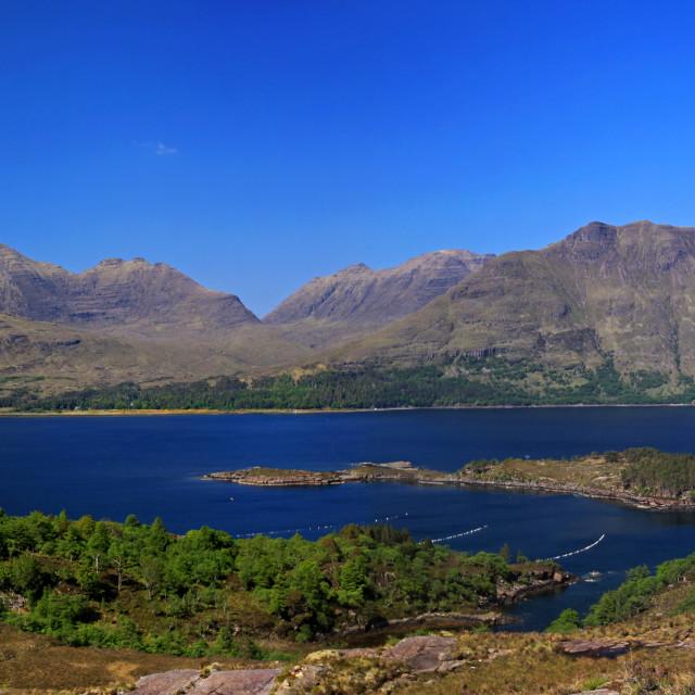 """The Torridon Hills and Loch Torridon"" stock image"