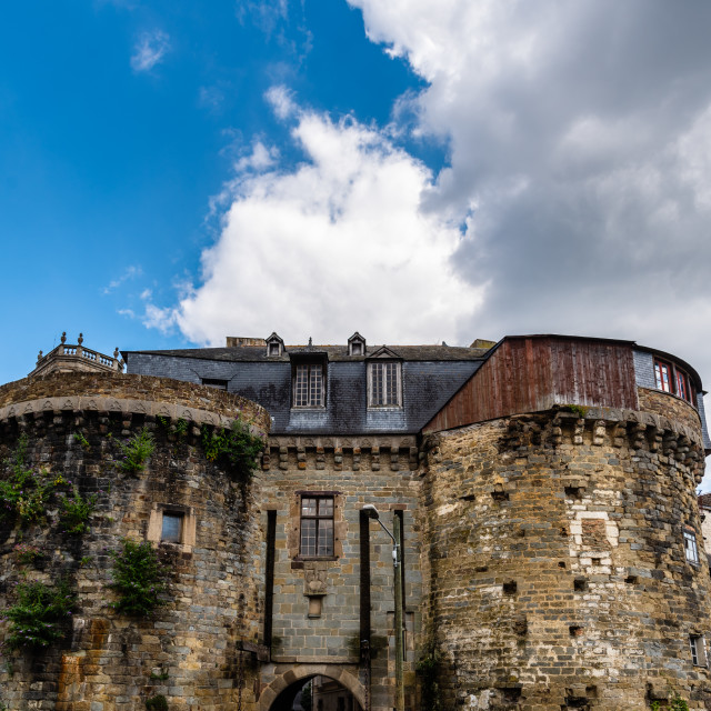 """Old ramparts in historic centre of Rennes"" stock image"