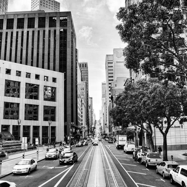 """""""San Francisco Street Scene."""" stock image"""