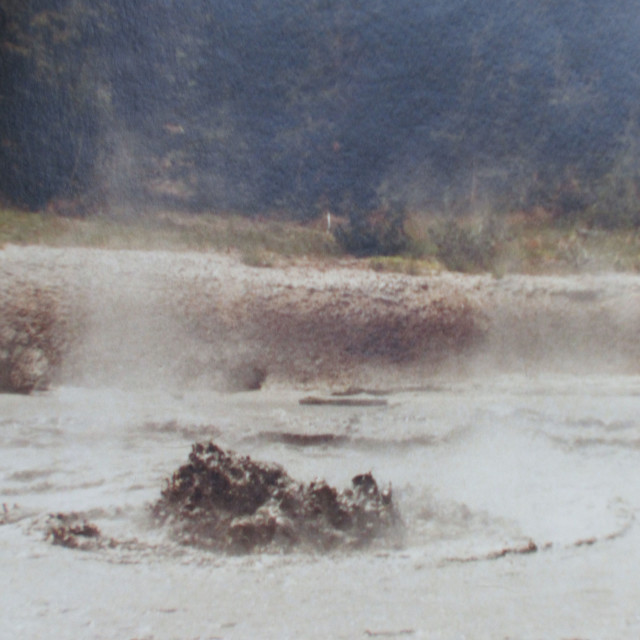 """Yellowstone Park mud pools"" stock image"