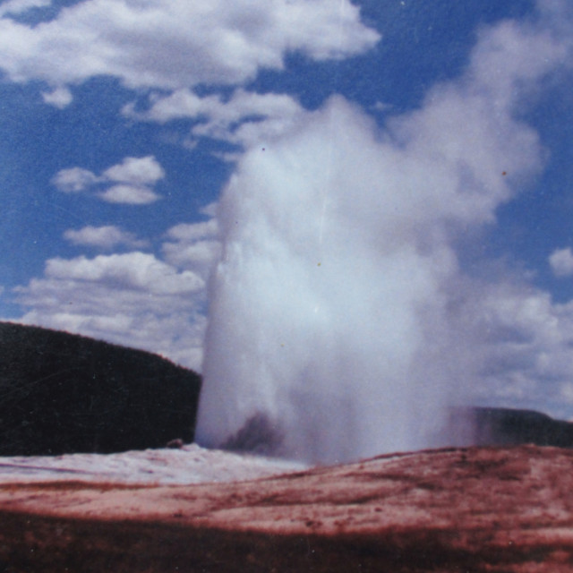 """Yellowstone Park geyser"" stock image"