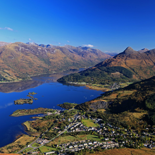 """""""View down to Ballachulish and Loch Leven"""" stock image"""