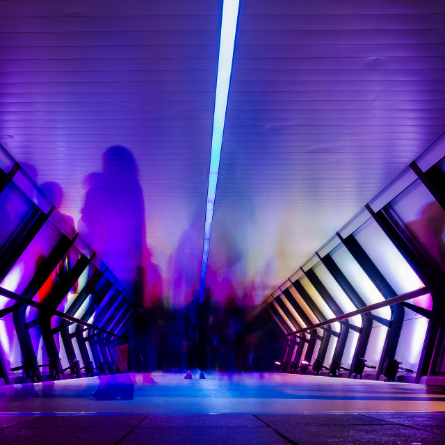 """""""Ghosts of Crossrail Place"""" stock image"""
