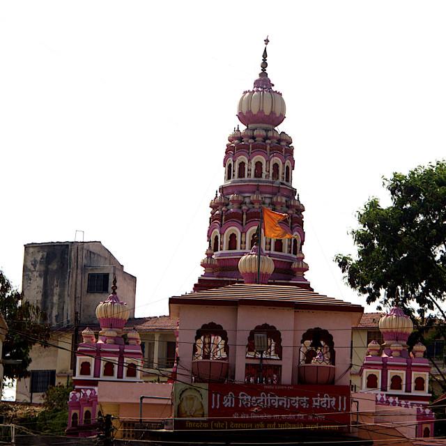 """""""Siddhivinayaka Temple. Siddhatek"""" stock image"""