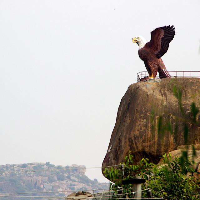 """""""Jatayu on rock, Lepakshi"""" stock image"""