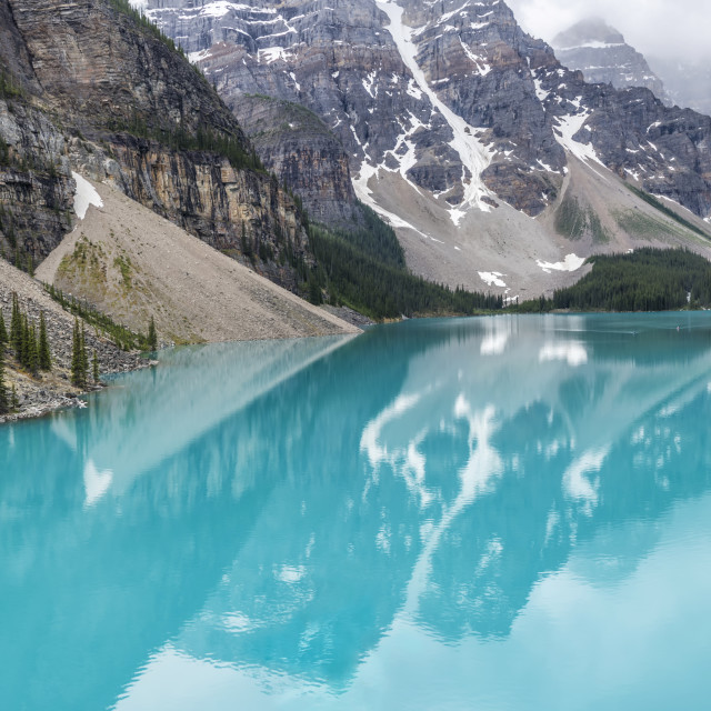 """Moraine Lake Panorama"" stock image"