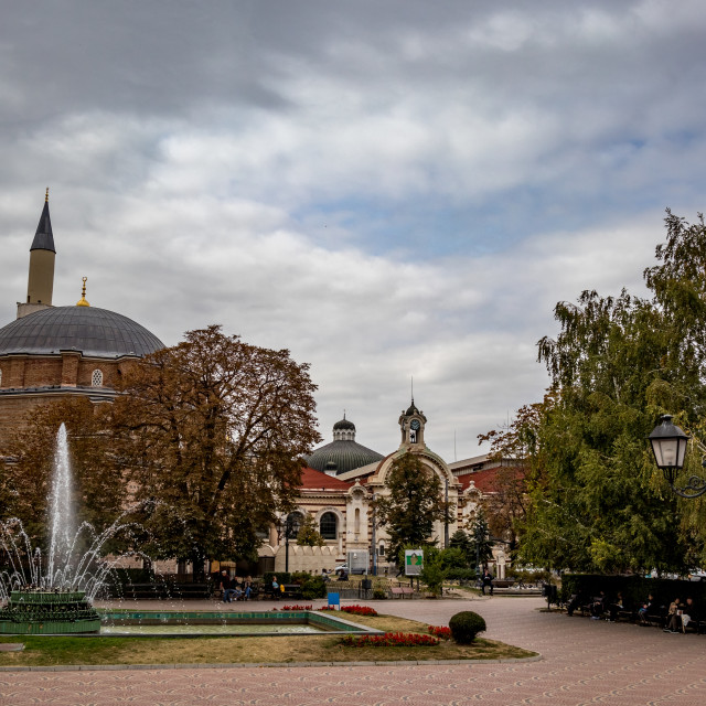 """""""Mosque and Synagogue next to each other, Bulgaria"""" stock image"""