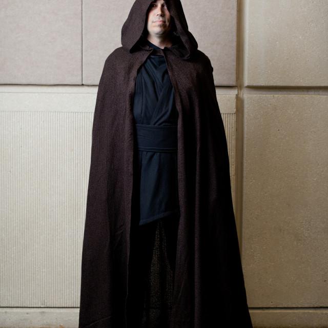 """Man dressed as Palpatine at Start Wars Celebration at Orange County..."" stock image"