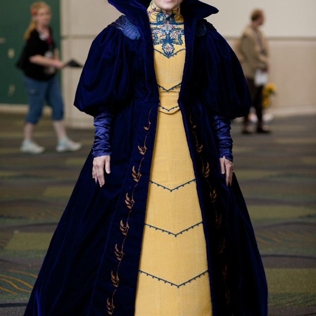"""Woman dressed as princess at Star Wars Celebration at Orange County..."" stock image"