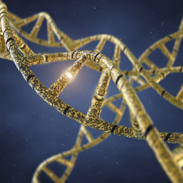 """Genetic engineering, conceptual illustration"" stock image"