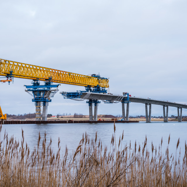 """The construction site of Crown Princess Mary Bridge"" stock image"