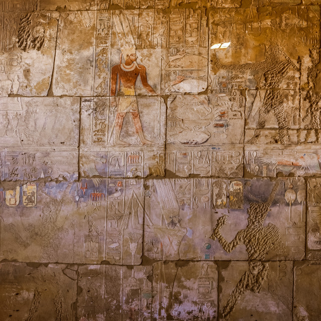 """hieroglyphs and paintings in many colours"" stock image"