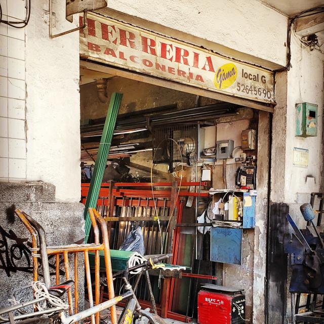 """""""A herreria in La Roma, Mexico City"""" stock image"""