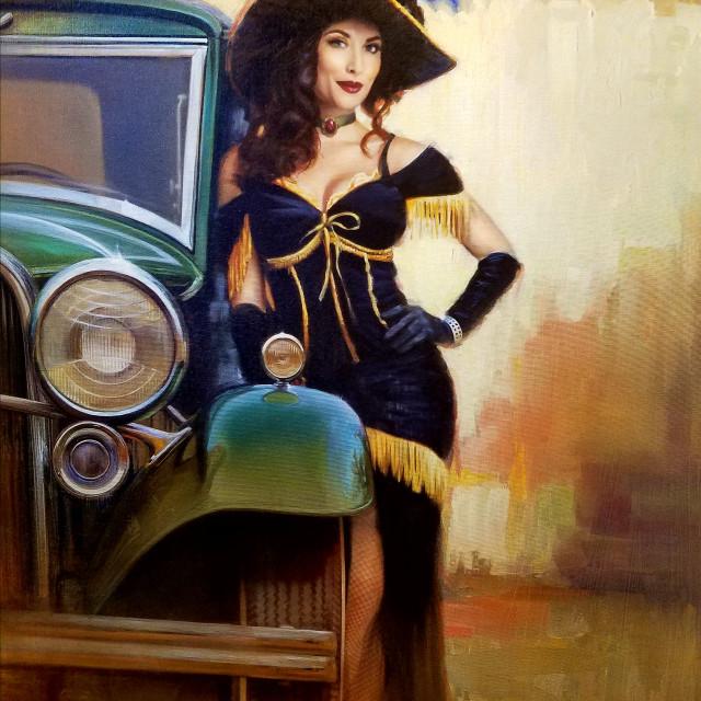 """""""Vintage Showgirl"""" stock image"""