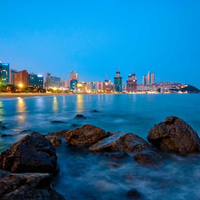 """Haeundae beach in Busan, South Korea"" stock image"