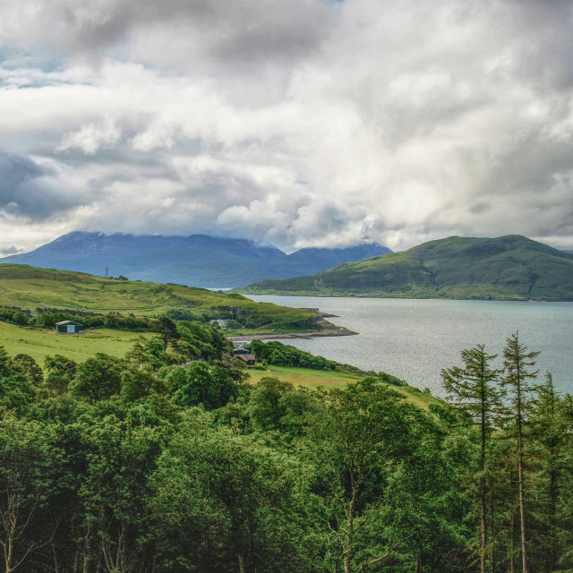 """""""Cuillin View"""" stock image"""