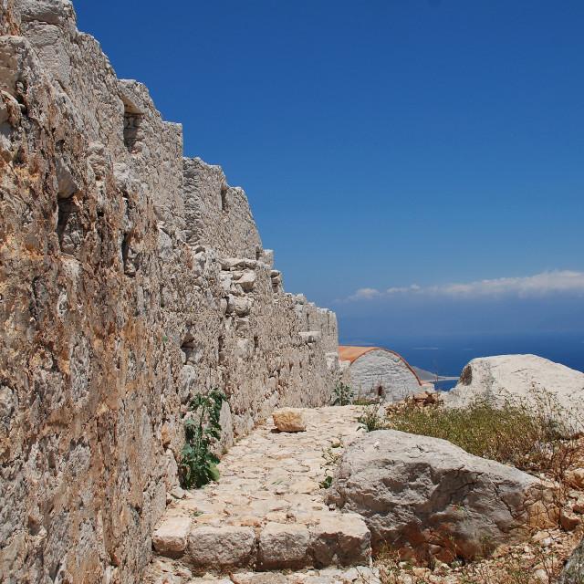 """Crusader Knights castle on Halki"" stock image"