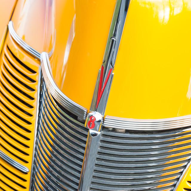 """""""Ford V8 custom grille"""" stock image"""
