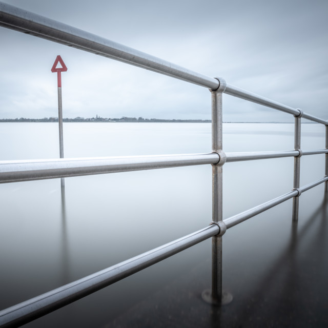 """""""Goes On Forever at Brightlingsea"""" stock image"""