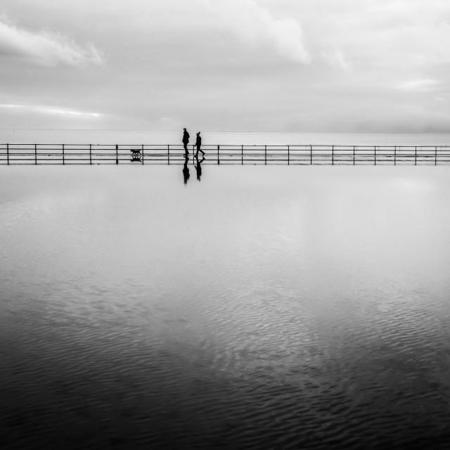 """""""Walking On Water"""" stock image"""