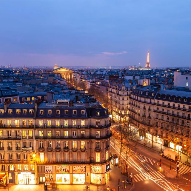 """Winter night in Paris"" stock image"