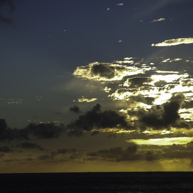 """Lanzarote Sunset"" stock image"